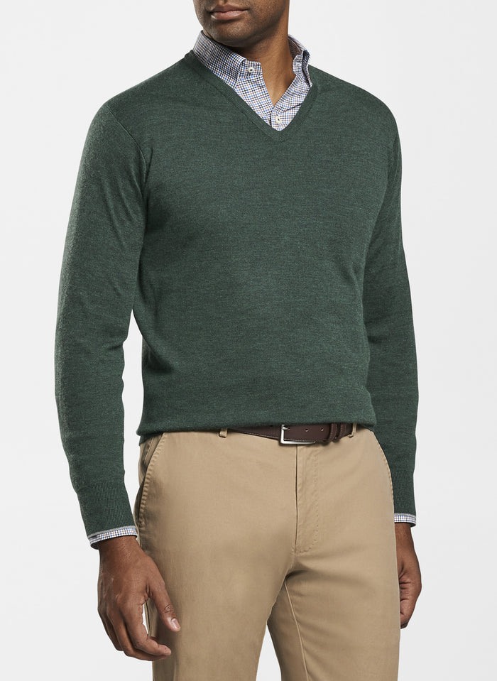 Peter Millar Crown Comfort Cashmere Silk V Neck , Lacinato