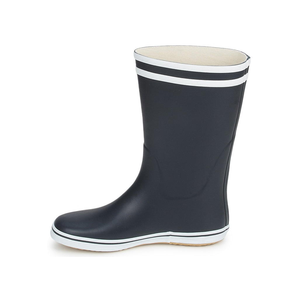 Women's Aigle Malouine Rain Boot, Navy/White