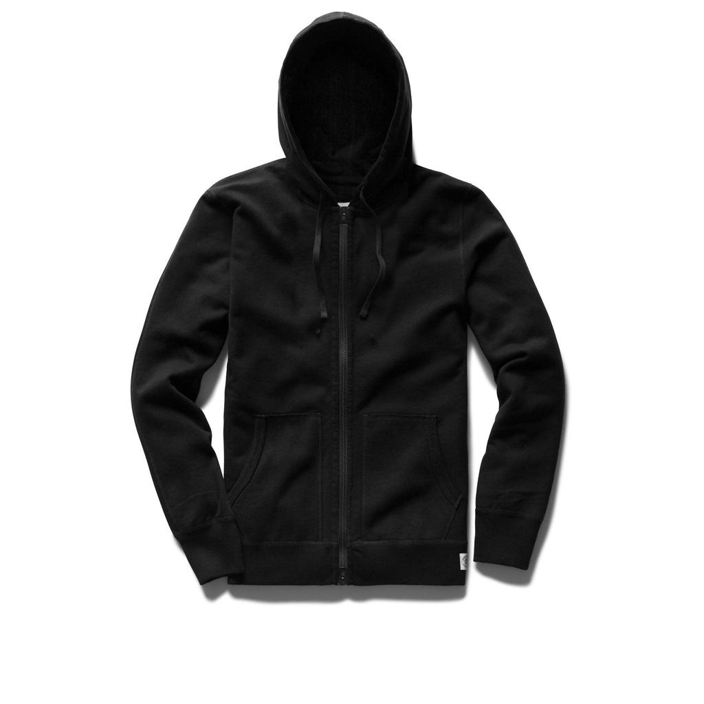 Reigning Champ Lightweight Terry Full Zip, Black