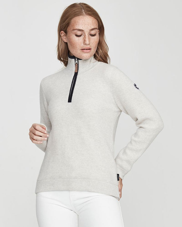 Holebrook Agnes T-Neck WP, Light Grey Melange
