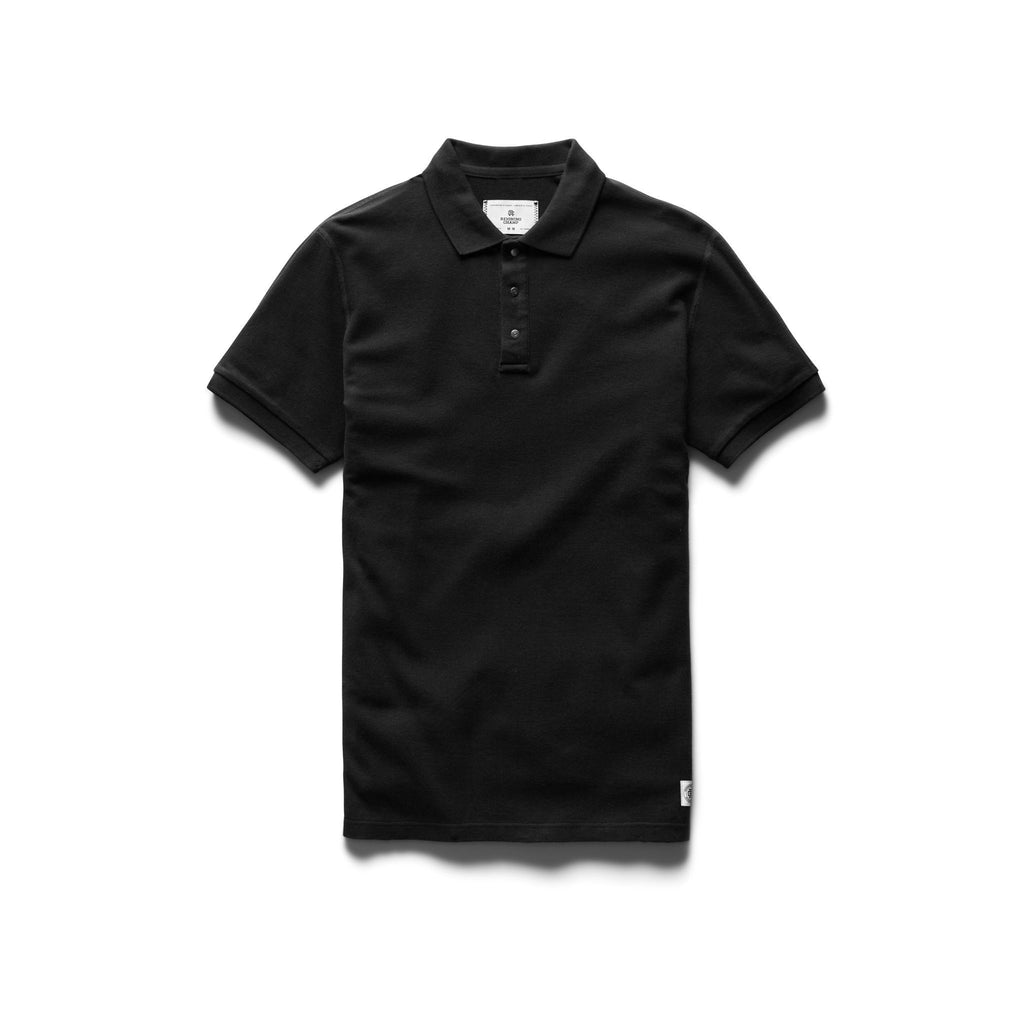 Reigning Champ Pique Polo, Black