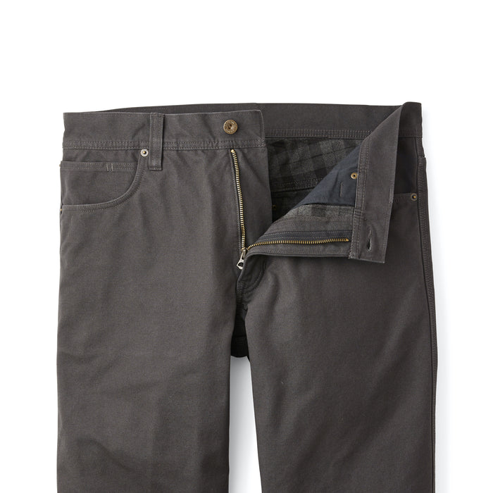 Filson Flannel−Lined Dry Tin Pants, Raven