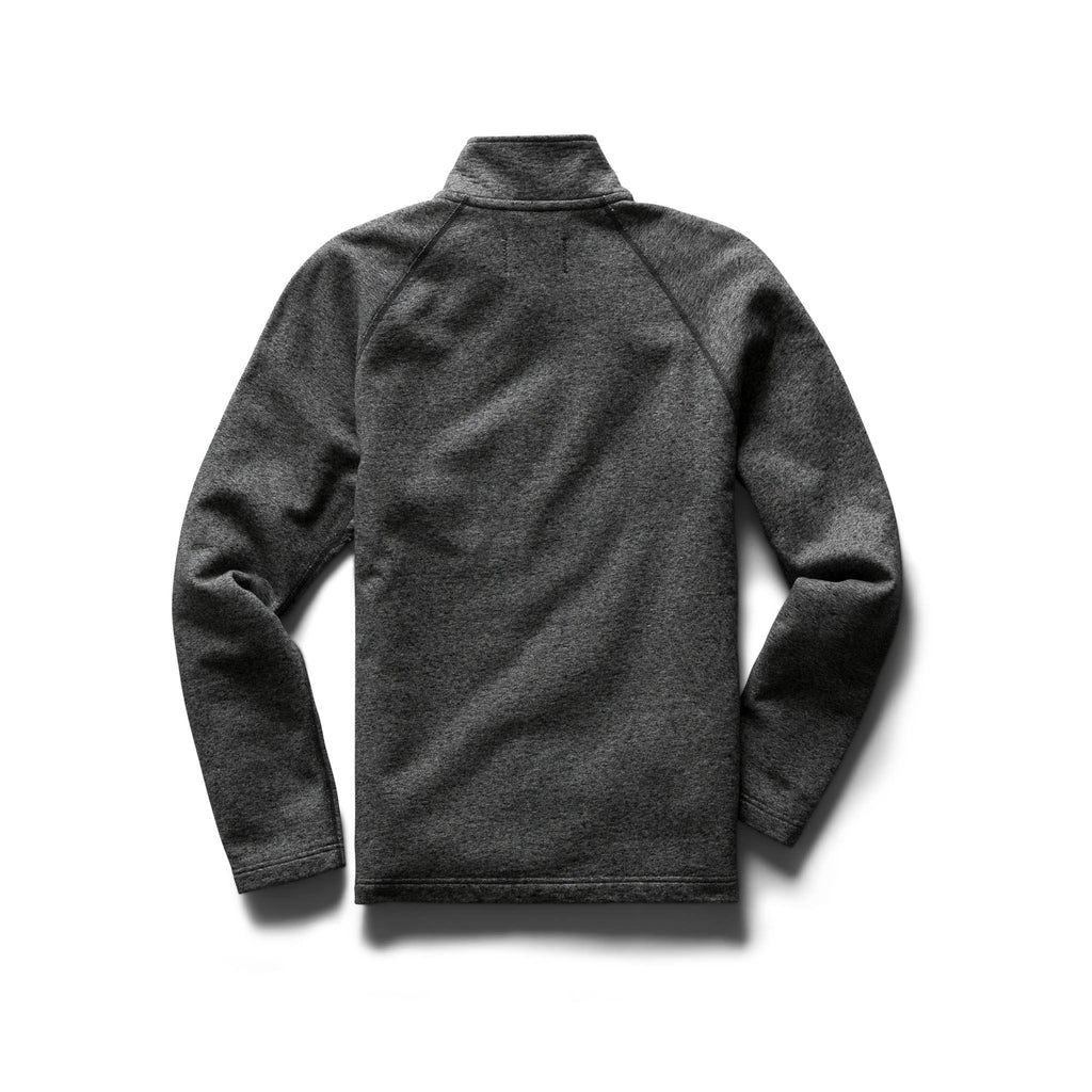 Reigning Champ Midweight Terry Half Zip Pullover, Marled Black