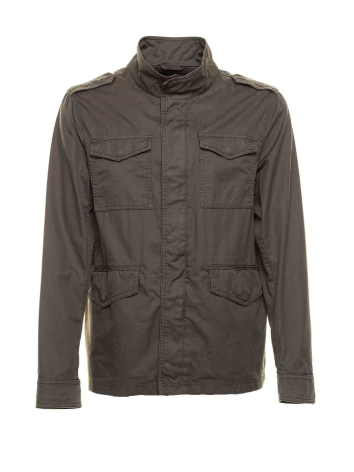 Herno Enzyme Washed Unlined Field Jacket , Olive