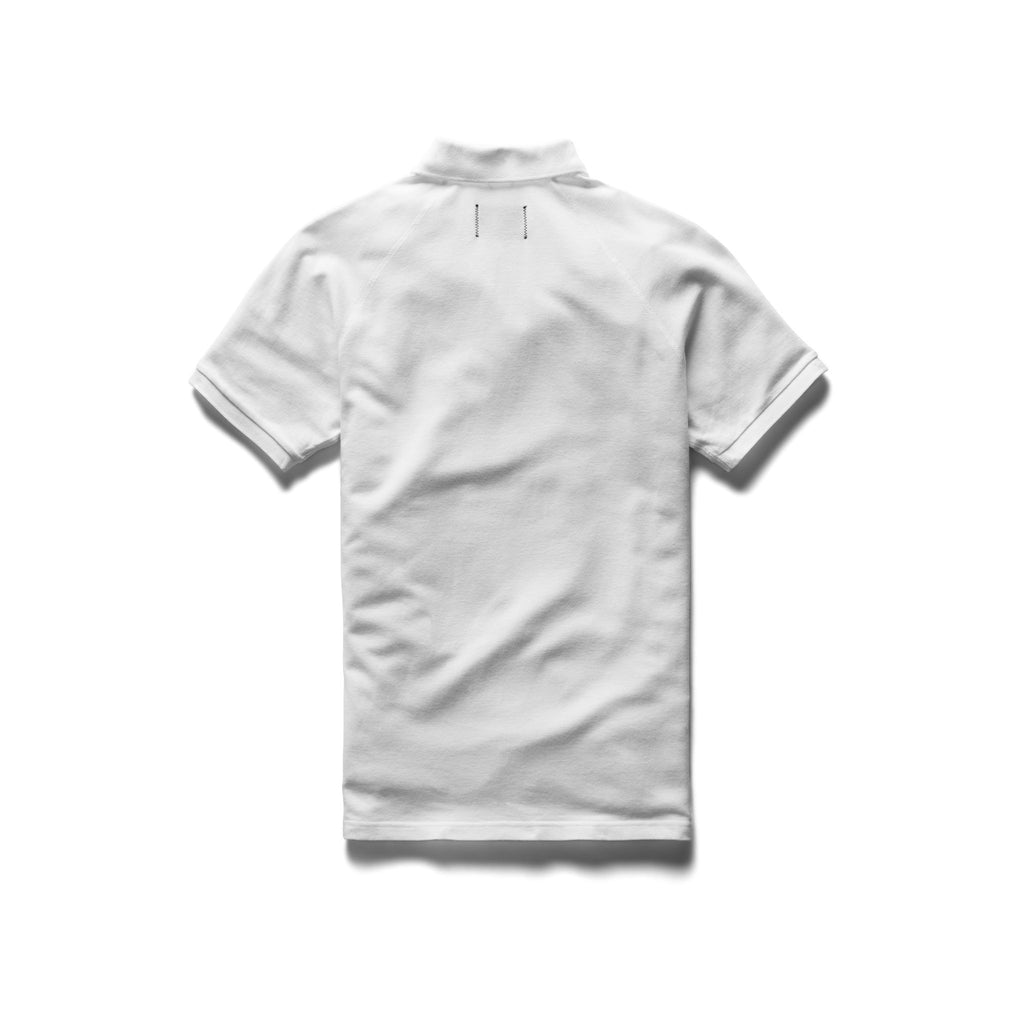 Reigning Champ Pique Polo, White