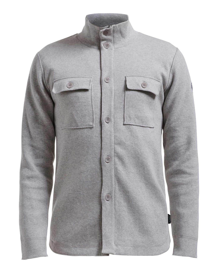 Holebrook Edwin Shirt Jacket WP, Light Grey Melange