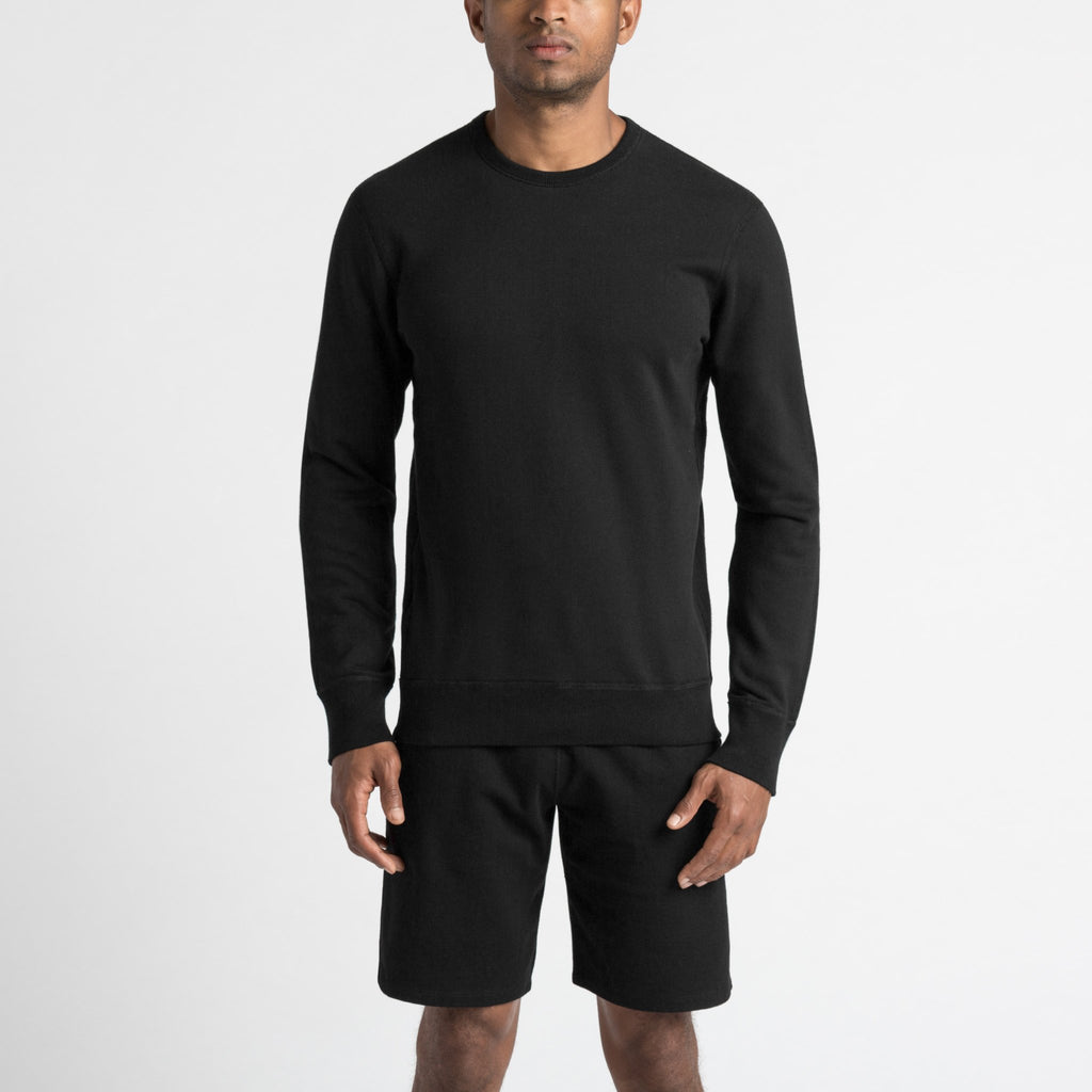 Reigning Champ Lightweight Terry Crewneck, Black