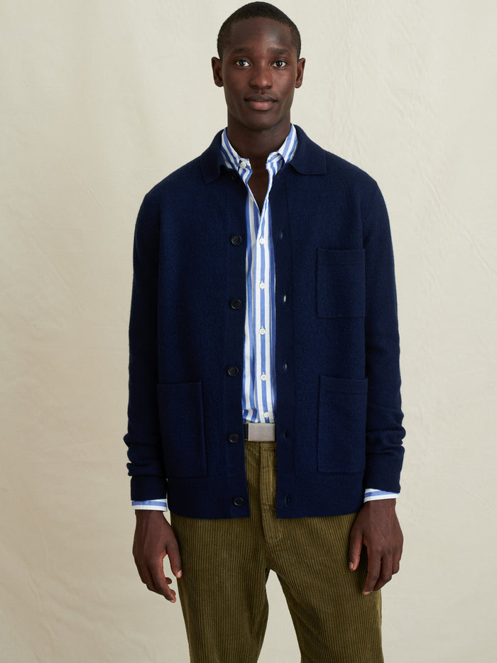 Alex Mill Boiled Wool Work Jacket, Navy