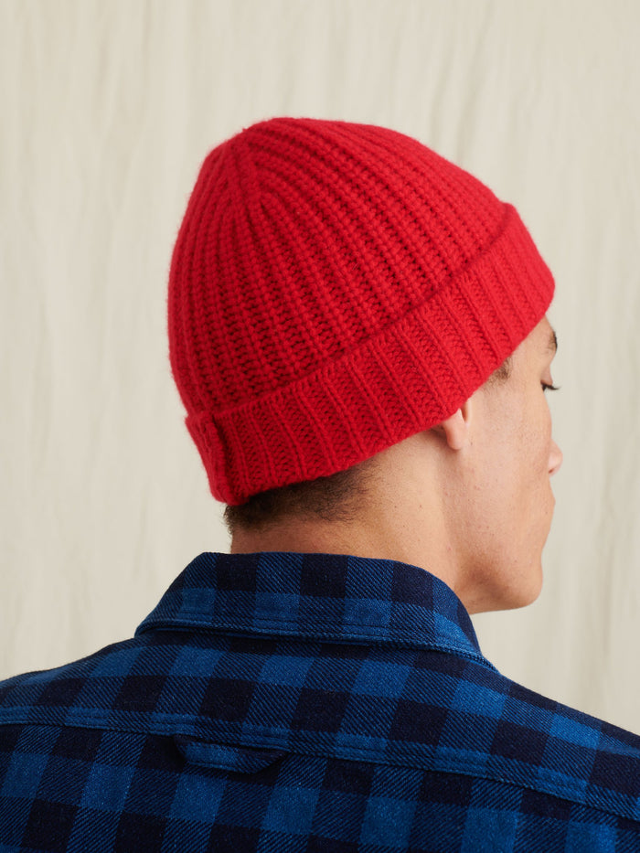 Alex Mill Cashmere Solid Beanie, Red