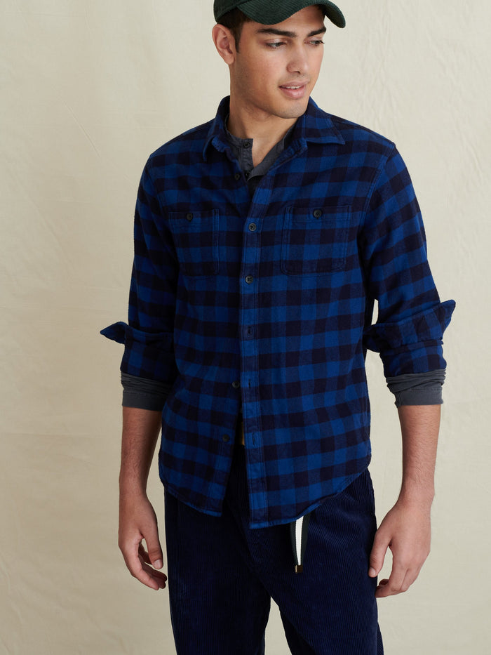 Alex Mill Flannel Chore Shirt, Indigo