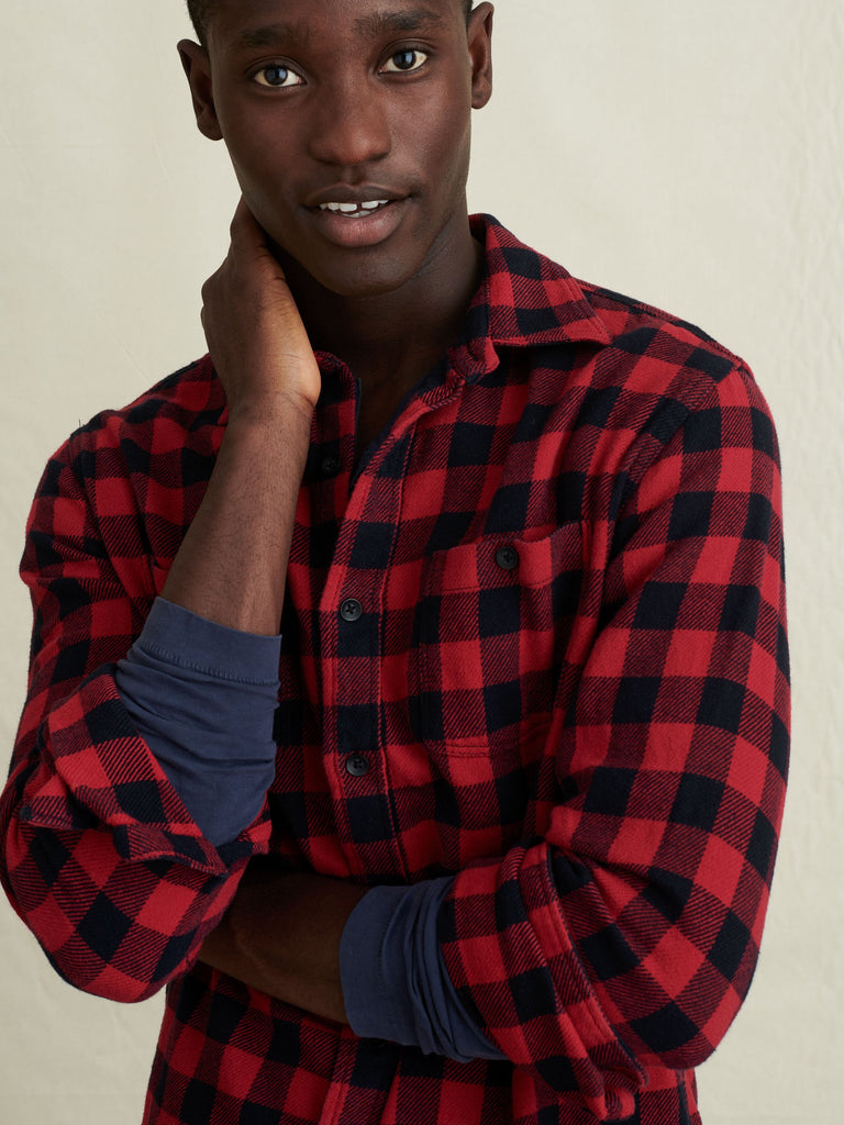 Alex Mill Flannel Chore Shirt, Red/Black