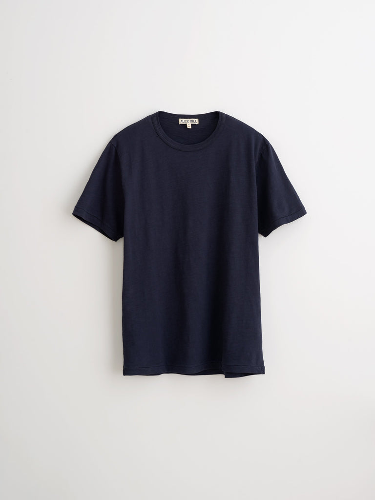 Alex Mill Standard T-Shirt in Slub Cotton, Navy