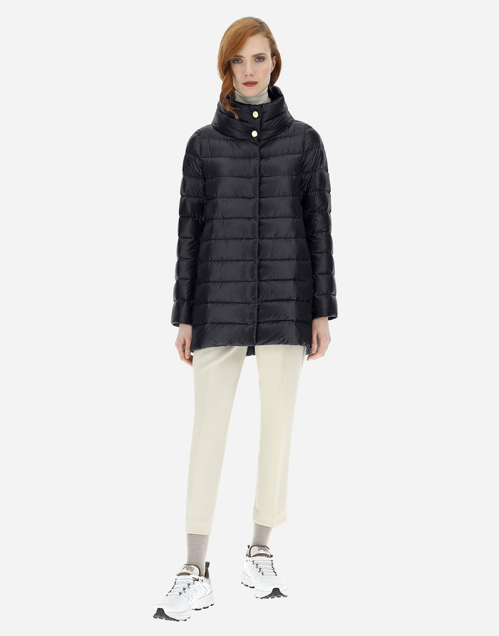 Amelia Quilted Down Jacket, Black