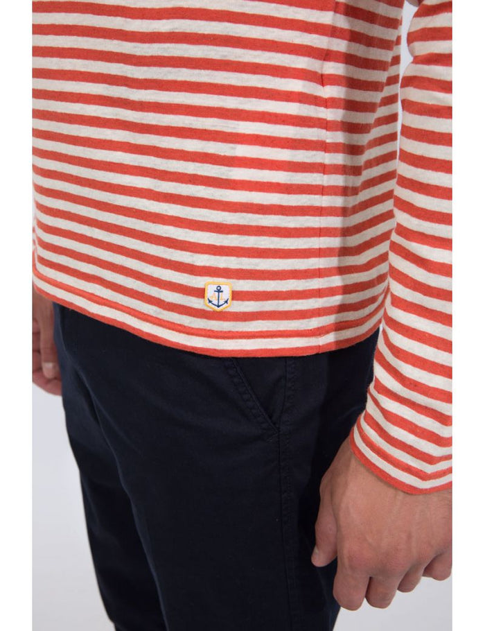 Breton Shirt L/S Heritage (76154), Orange Henne/Nature