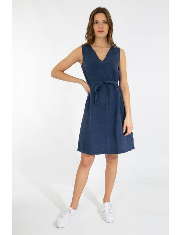 Armor-Lux Sleeveless Linen Dress (78327), Navy