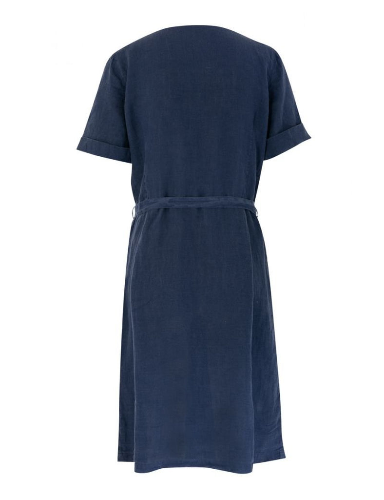 Armor-Lux SS Button Up Midi Dress (78293), Navy
