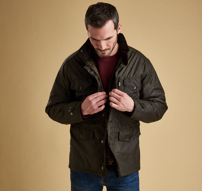 Barbour Sapper Wax Jacket, Olive