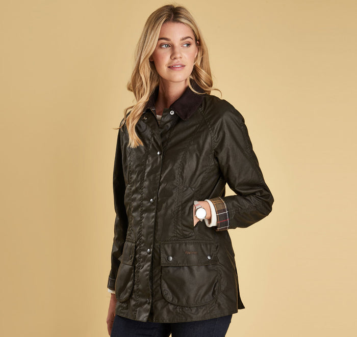 Barbour Classic Beadnell Wax Jacket, Olive