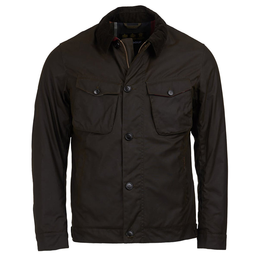 Barbour Keadby Wax Jacket, Olive
