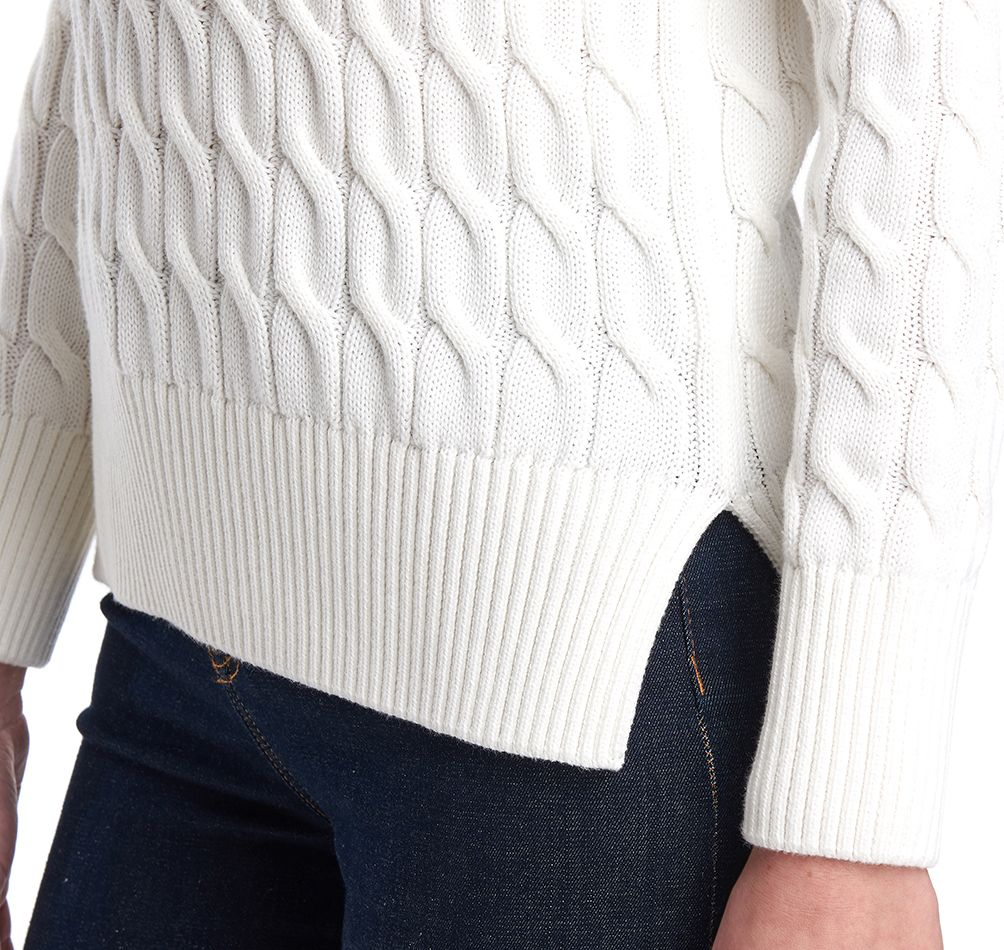 Barbour Lewes Knit, Off White