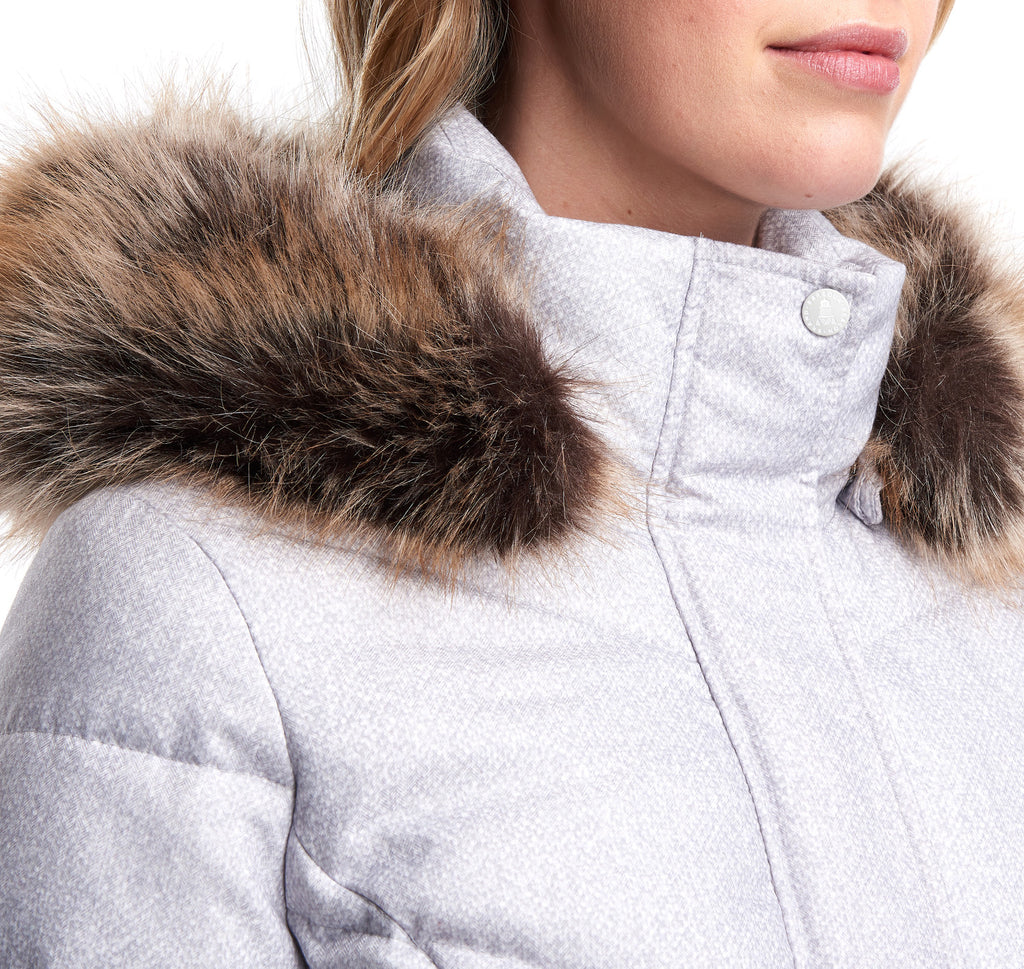 Barbour Sternway Quilted Jacket, Ice White Marl