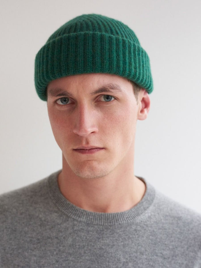 Begg & Co Cashmere Alex Beanie, Green