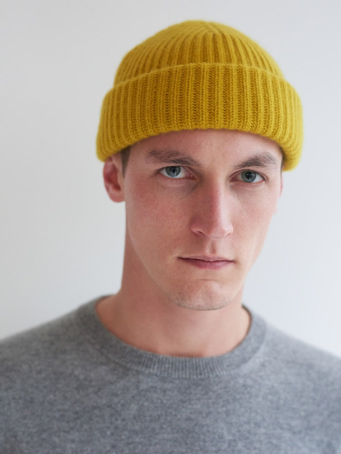 Begg & Co Cashmere Alex Beanie, Yellow