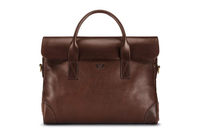 Bennett Winch Leather Brief, Brown