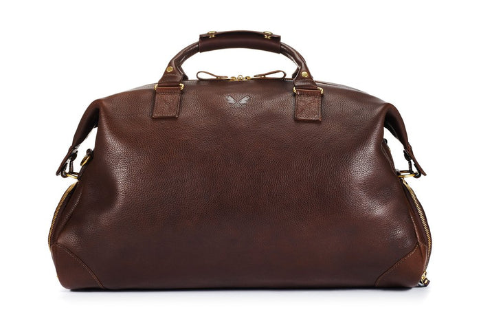 Bennett Winch Leather Weekender, Brown