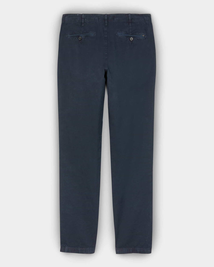Billy Reid Pima Cotton Chino Pant, Carbon Blue