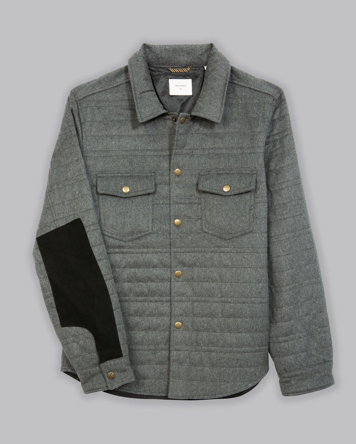 Billy Reid Michael Shirt Jacket, Light Grey