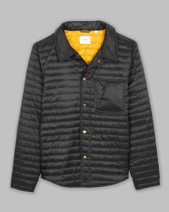 Billy Reid Packable Shirt Jacket, Black