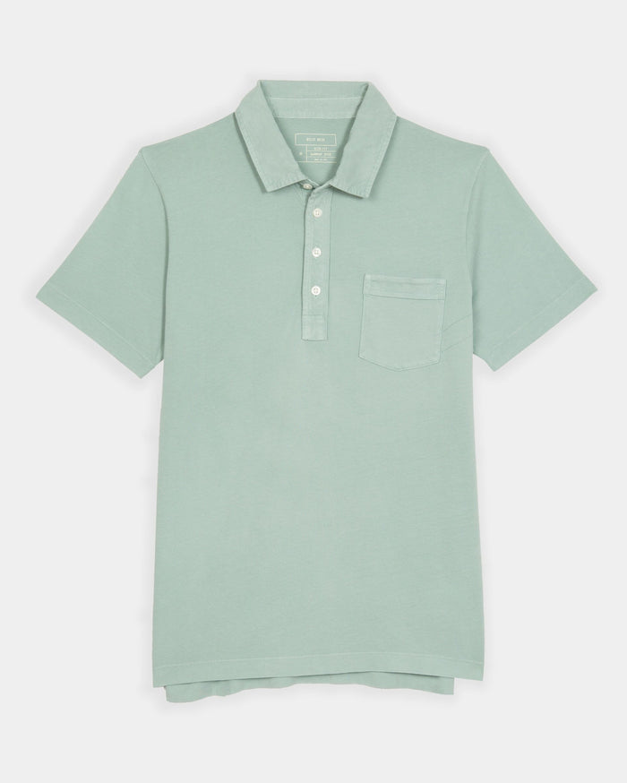 Billy Reid Pensacola Polo, Jadeite