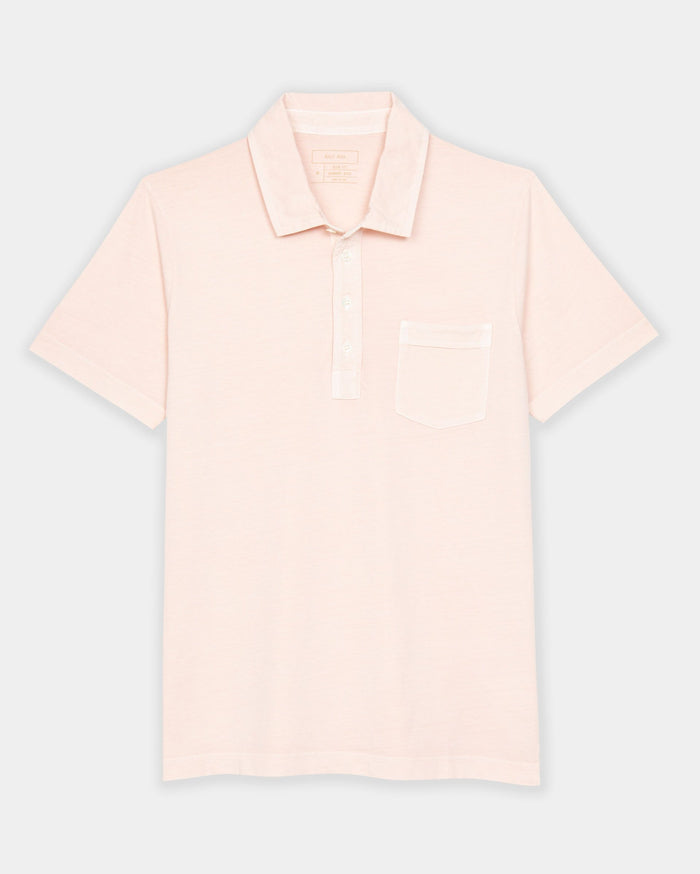 Billy Reid Pensacola Polo, Washed Rose