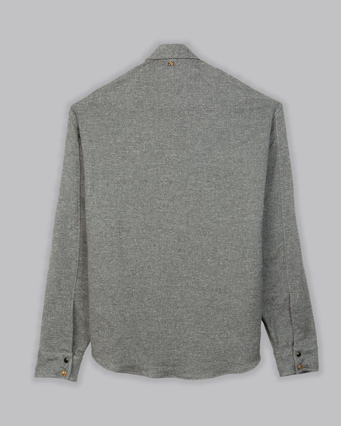 Billy Reid Snap Front Shirt, Grey