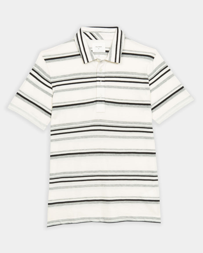 Billy Reid Stripe Polo, Natural