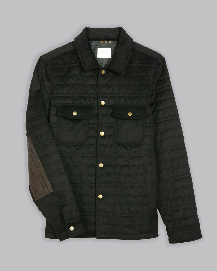 Billy Reid Trey Shirt Jacket, Black