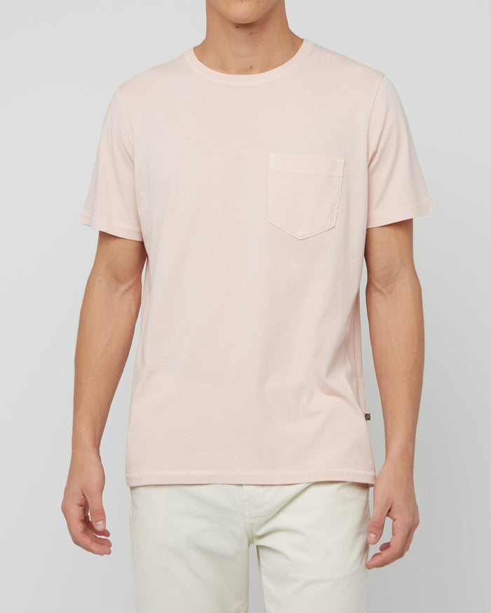 Billy Reid Washed Tee, Washed Rose
