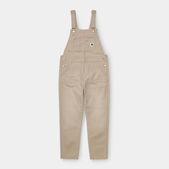 Carhartt WIP Women's Bib Overall, Dusty H Brown