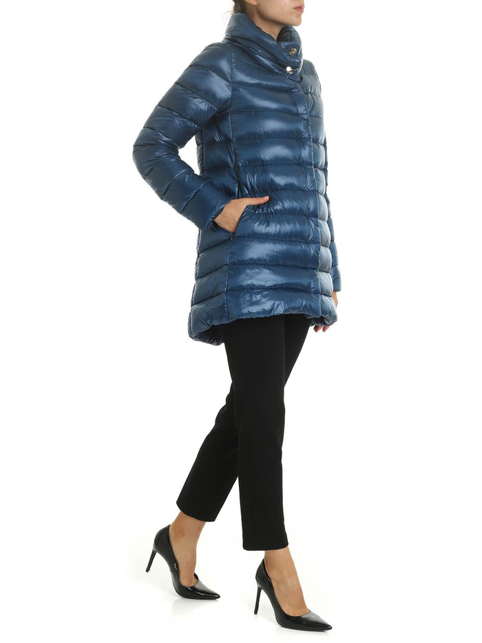 Herno Classic Funnelneck Puffer Jacket, Blue
