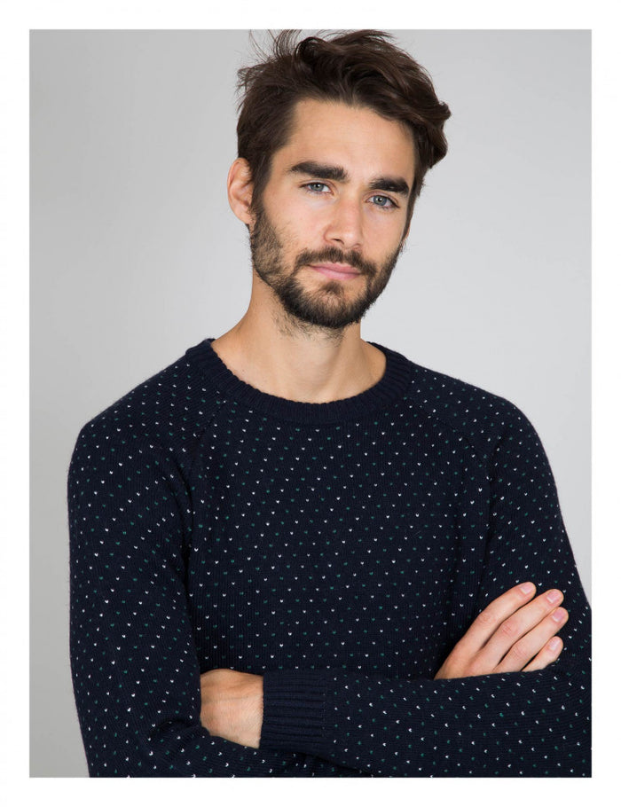 Cuisse De Grenouille Jacquard Knit Sweater (+colors)