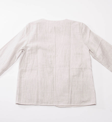 Eileen Fisher Organic Cotton Kimono 3/4 Sleeve Jacket, Bone