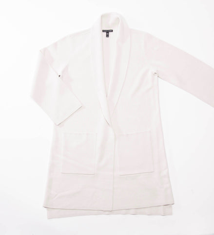 Eileen Fisher Silk/Cotton Interlock Kimono Cardigan, Bone