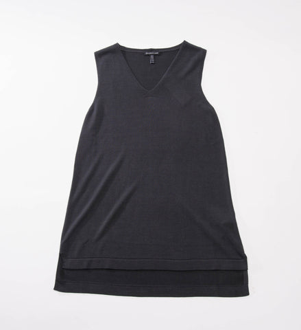 Eileen Fisher V-Neck Tank, Graphite