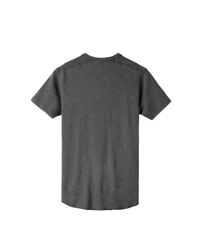 Wings + Horns Slub Short Sleeve , Heather Charcoal