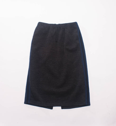 FWK Women's Track Skirt, Charcoal Wool Jersey Knit