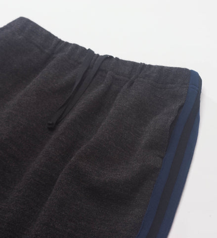 FWK Track Skirt, Charcoal Wool Jersey Knit
