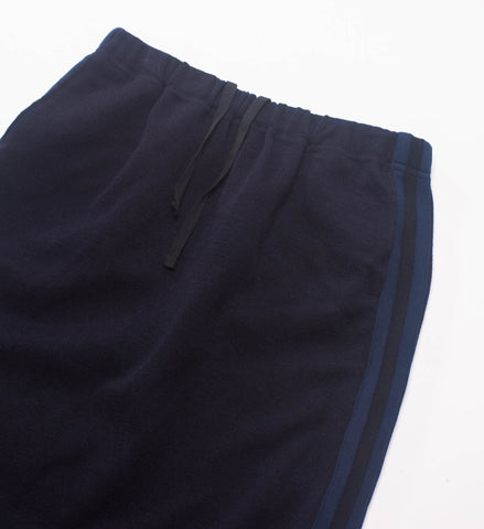 FWK Women's Track Skirt, Dark Navy Wool Jersey Knit