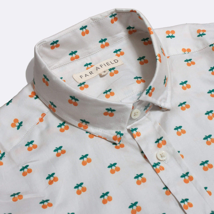 Far Afield Cognito Short Sleeved Shirt, Oranges