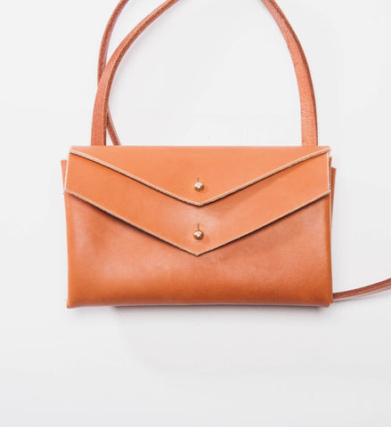 Farrell & Co. Mini Double Envelope Bag, Tan